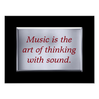 Thinking with sound - art print