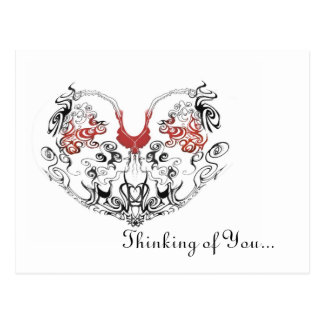 Thinking with the Heart. Postcard