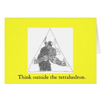thinkoutsidetetrahedron, Think outside the tetr... Card