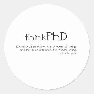 thinkPhD Pegatina Redonda