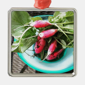 Thinned out my radishes metal ornament