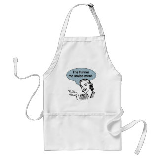 Thinner Me Smiles More Apron