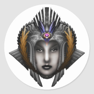 Thinosia Queen Of Armageddon ISO Classic Round Sticker