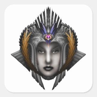 Thinosia Queen Of Armageddon ISO Square Sticker