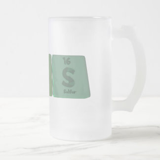 Thins-Th-In-S-Thorium-Indium-Sulfur.png Frosted Glass Beer Mug