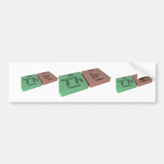 Thir  as Th Thorium and Ir Iridium Bumper Sticker