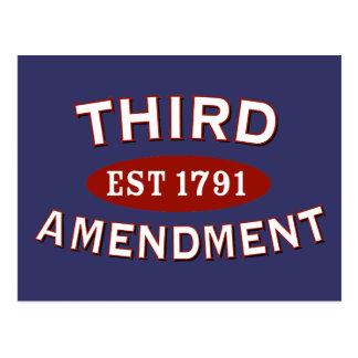 Third Amendment Est 1791 Postcard