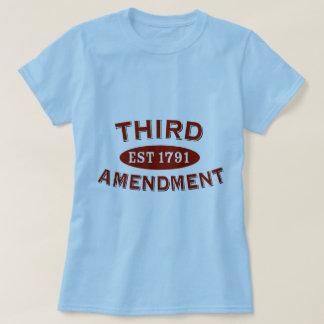 Third Amendment Est 1791 Tee Shirt
