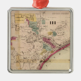 Third and fourth wards of Pomeroy Square Metal Christmas Ornament