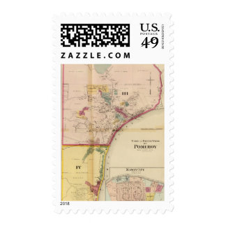 Third and fourth wards of Pomeroy Stamps