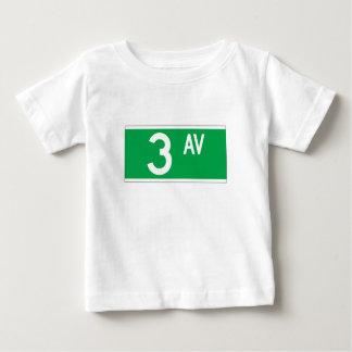 Third Av., New York Street Sign Baby T-Shirt