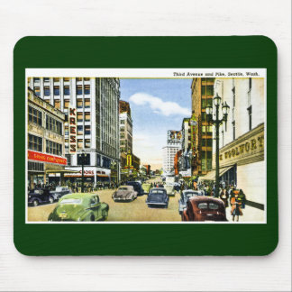 Third Avenue and Pike Seattle Washington Mousepad