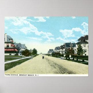 Third Avenue, Bradley Beach, NJ Vintage Poster