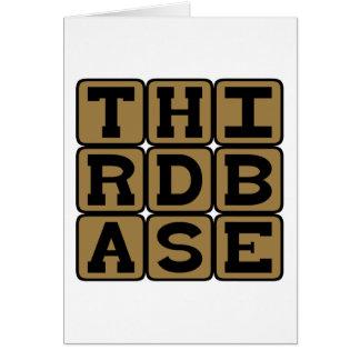 Third Base, Baseball Position Card