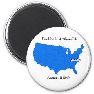 Third Battle of Athens, TN. 2 Inch Round Magnet