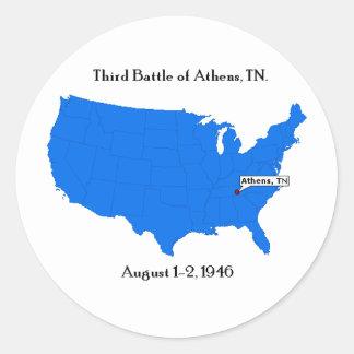 Third Battle of Athens, TN. Classic Round Sticker