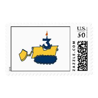 Third Birthday Bulldozer Stamp