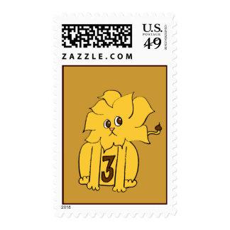 Third Birthday Lion Stamp