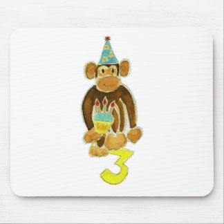 Third Birthday Monkey Mouse Pad
