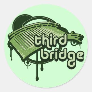 third bridge. green&forest. classic round sticker