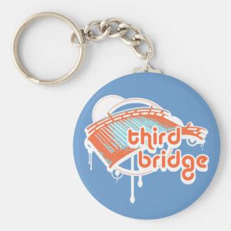 third bridge. orange&blue. keychain