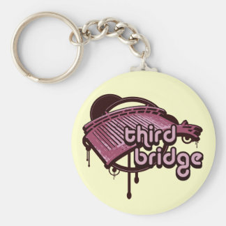 third bridge. pink&maroon. keychain
