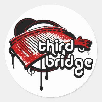 third bridge. red&black. round sticker