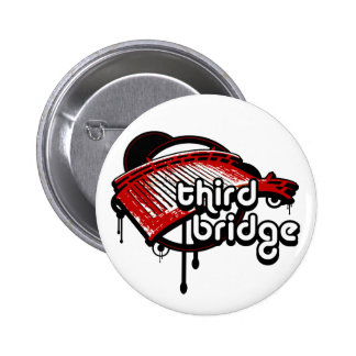 third bridge. white&red. button