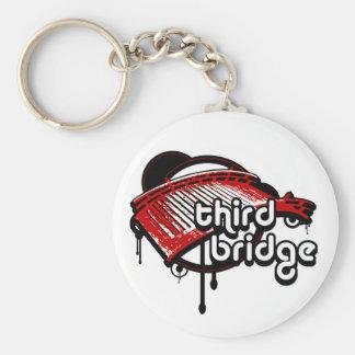 third bridge. white&red. keychain