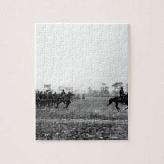Third Cavalry colors, Cuba, ca.  1898_War Image Jigsaw Puzzle
