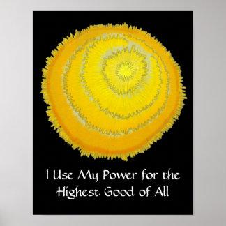 Third Chakra Healing Art # - Self Esteem Poster