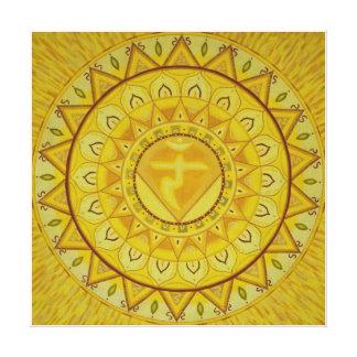 Third Chakra Mandala Canvas Print