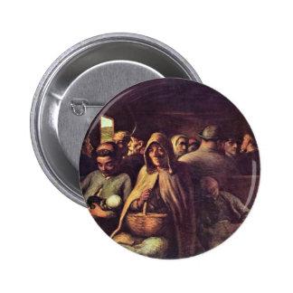 Third-Class Carriage By Daumier Honoré (Best Quali Pinback Button