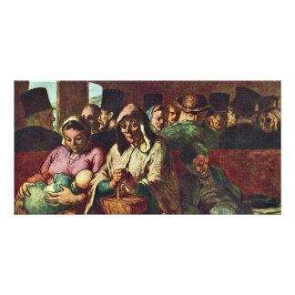 Third-Class Compartment By Daumier Honoré Custom Photo Card