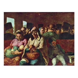 Third-Class Compartment By Daumier Honoré Postcard