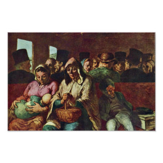 Third-Class Compartment By Daumier Honoré Print