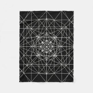 Third Dimensional/Crystal Temple Sacred Geometry Fleece Blanket