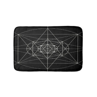 Third Dimensional Sacred Geometry Bathroom Mat