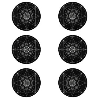 Third Dimensional Sacred Geometry Button Covers