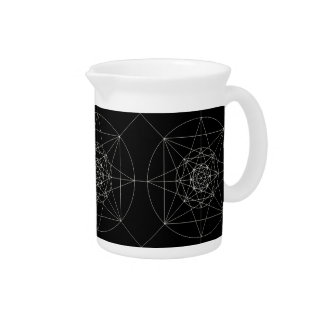 Third Dimensional Sacred Geometry Pitcher