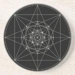 Third Dimensional Sacred Geometry Sandstone Coaster