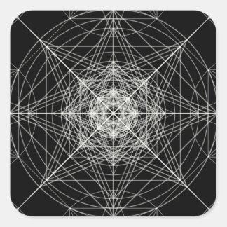 Third Dimensional Sacred Geometry Square Sticker