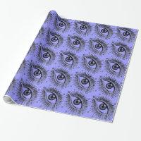 Third Eye Big Eyes Eyeball Halloween Psychic Sight Wrapping Paper