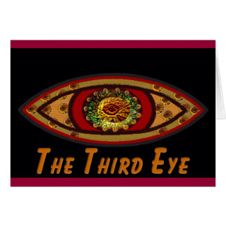 Third Eye - Black Print with Caption by Manda Card