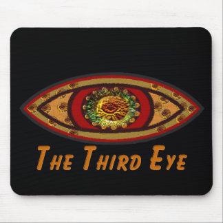 Third Eye - Black Print with Caption by Manda Mouse Pad