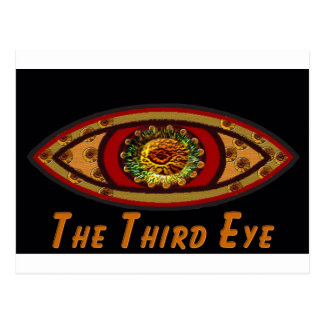 Third Eye - Black Print with Caption by Manda Postcard