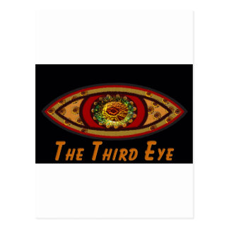 Third Eye - Black Print with Caption by Manda Postcard