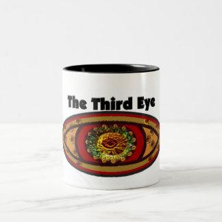 Third Eye by Manda Two-Tone Coffee Mug