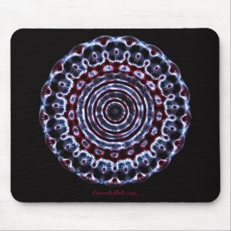 Third Eye Chakra Cymatics Mandala Mouse Pad
