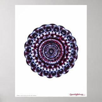 Third Eye Chakra Cymatics Meditation Poster